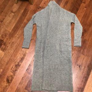 Cozy full length wrap sweater